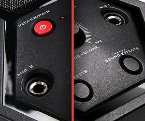 Has 2 microphone jacks - Singsation All-In-One Karaoke System Deluxe Review